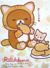 San-X Rilakkuma Relax Bear Cat A4 Plastic File Folder (Taiyaki Treat)~KAWAII!!!