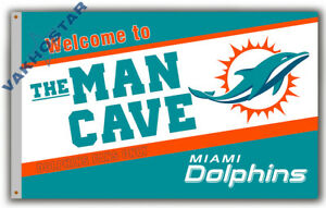 Miami Dolphins Men Cave Football team Memorable flag 90x150cm 3x5ft Best banner