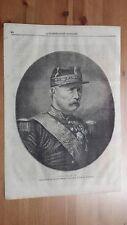 1873 Illustrazione Popolare: Ritratto Mac-Mahon Presidente Repubblica Francese