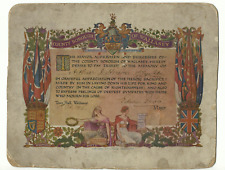 More details for ww1tribute certificate to arthur james herion from wallasey