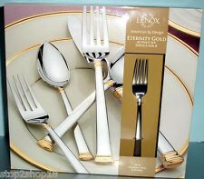 Lenox ETERNITY GOLD 45 Piece Stainless Flatware Service for 8 New In Box