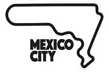 Città del Messico Race Circuit. AUTO ADESIVO VINILE F1 autódromo GRAND PRIX FORMULA UNO