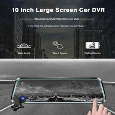 """10"""" coche DVR cámara retrovisor Grabadora de conducción de video de doble versión de noche"""