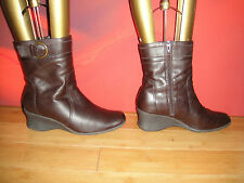 Next Women's 100% Leather Wedge Mid Heel (1.5-3 in.) Boots