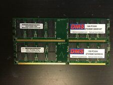 DMS 2GB (2x1GB) PC-3200U DDR 400 Deaktop Memory RAM