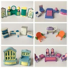 Dollhouse Furniture Lot 30+ Outdoor Kitchen Bedroom Bathroom Doll House 1:24