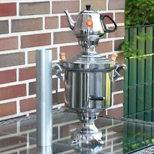 Russische Holzkohle Samowar 5 Liter+Teekanne 1,3 Liter Samovar Edelstahl 1,2 mm.