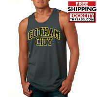 BATMAN GOTHAM CITY ORIGINAL CHARCOAL TANK TOP DC Comics Shirt Tee Joker BM