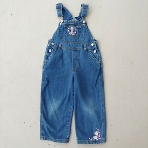 Vintage Disney 102 Dalmatians Denim Jean Overalls Girls Toddler Size 4