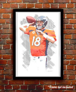 Indianaopolis Colts #02 Peyton Manning 11X17 Poster