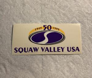 Vintage skateboard Snowboard Sticker Squaw Valley Burton Ski Airwalk NOS sims 1