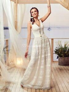 Robe de mariée ivoire T44 Melle Nais collection PRONUPTIA style Bohême champêtre