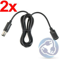 LOT 2X Controller Extension Adapter Cable Cord for Nintendo Gamecube Wii NGC 6ft