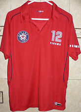 Panama National Soccer Team Red #12 Fan Enthusiastic Polo Jersey Adult Large Sz