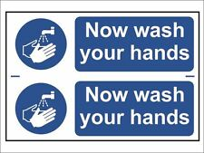 Scan - Now Wash Your Hands - PVC 300 x 200mm