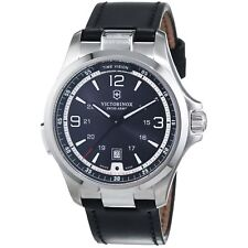 Victorinox Swiss Army 241664 Night Vision Black Leather Band Men's Watch