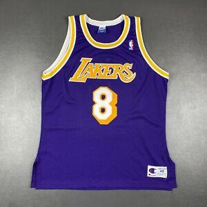 100% Authentic Kobe Bryant Vintage Champion Lakers Jersey Size 48 L XL