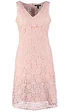 LAUREN by Ralph Lauren TRISHKA Sleeveless Lace Crochet DRESS Damask PINK 14 NEW