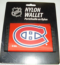NHL NWT PRINTED TRI FOLD NYLON WALLET - MONTREAL CANADIENS