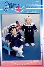 """Children of America Dolls Sailor Suits Pattern 9832 Size 16""""UNCUT"""