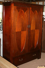Solid timber Antique Gentlemans 2 door Wardrobe very Heavy REDUCED