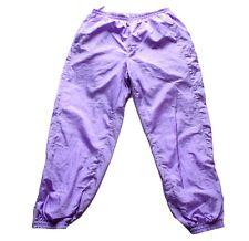 Men's Vintage 80's Lilac Shell Suit / Tracksuit Bottoms 34 - 36 W / 31 L