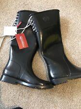 Mascotte real Black Wellington boots UK 3.5 EU 36 BNWOB