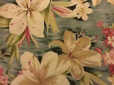 NOS Leslie Fay Hawaiian Style Sz 8 Tropical Floral  Dress w/ Matching Overshirt
