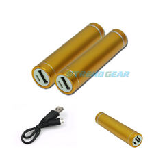 2PCS 2600MAH EXTERNAL BACKUP BATTERY CHARGER MICRO USB GOLD GALAXY S3 S4 NOTE