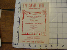 Spa Summer Theatre Saratoga Springs NY: CAINE MUTINY COURT MARTIAL 1955