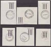 South Australia page of OFFICIAL MAIL postmarks on piece