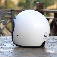 DOT Motorcycle Helmet Open Face Cruiser Scooter Chopper Unisex Half 3/4 Helmet