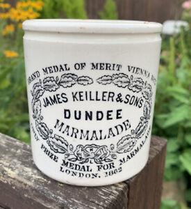 STUNNING VINTAGE JAMES KEILLER & SON'S DUNDEE MARMALADE JAR POT