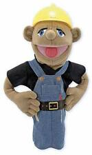 "15"" CONSTRUCTION  WORKER  PUPPET  Melissa & and Doug #2555"