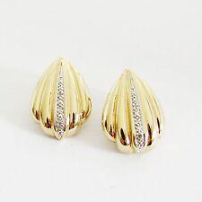 Ohrringe Gold 585er Diamanten 14 kt. Ohrclips Ohrstecker Ohrschmuck Edelsteine