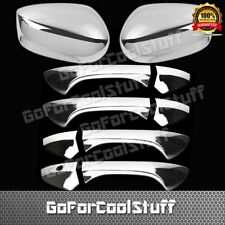 For Honda Accord 2008-2012 4Drs Handle W/O Pskh+Mirror 2Pc Chrome Covers