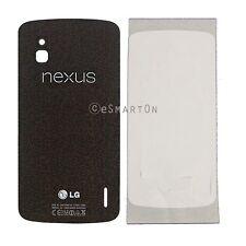 USA LG Google Nexus 4 E960 Back Door  Battery Cover Glass Only Black Color