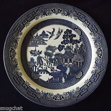 "Lovely 10-1/4"" Churchill Blue Willow Dinner Plate Made in Staffordshire England"