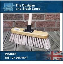 "Soft balayage Brush, 11"" Cream PVC Broom with Handle Indoor Floor Sweeper"