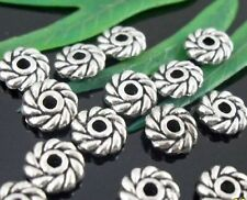 150pcs Tibetan Silver Spacer Beads Findings 6x2mm     (Lead-free)