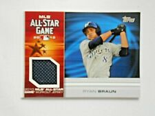 Ryan Braun 2010 All Star Game Workout Jersey Uniform Patch AS-RB Nr Mint