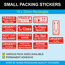 Small Bright Red Stickers Sticky Labels