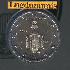 Allemagne 2015 2 Euro J Hambourg Eglise Hesse FDC du coffret BU 33000 exemplaire