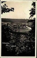 Kerhartice Gersdorf s/w AK 1937 Gesamtansicht Blick vom Wald Fabrik Panorama