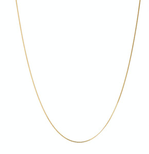 9ct carat solid yellow gold fine thin curb chain 16''(40cm) by Lucky Eyes London
