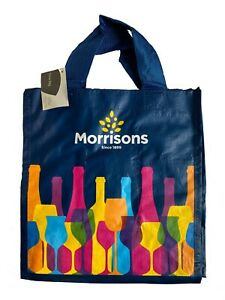Morrisons|6 Six Bottles Wine Spirit Carrier Bag|New With Tags|Reusable|Free P&P