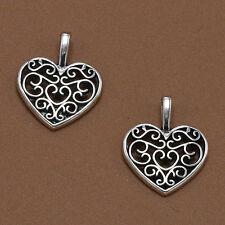 20stk Tibetan Silber Herz Pfirsich Blume Charms Anhänger Perlen Schmuck 16* L9S2