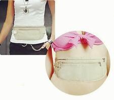 DC Travel Sport Pouch Bag Hidden Compact Security Money Waist Belt Holder Pocket
