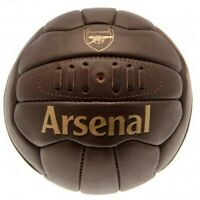 Arsenal FC Leather Football - Retro Heritage 15 Panel, Size 5 Ball, Official