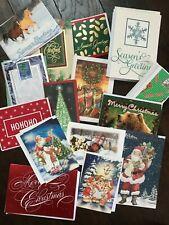 50 Christmas Holiday Greeting Cards & Envelopes Hallmark, American, Paper Magic